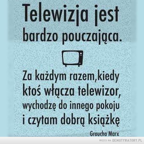Jak wiele może telewizja –