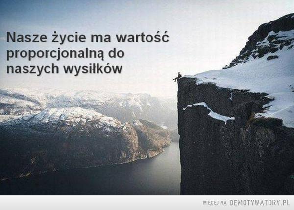 Życie ma wartość... –