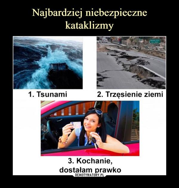 –  tsunami trzęsienie ziemikochanie dostałam prawko
