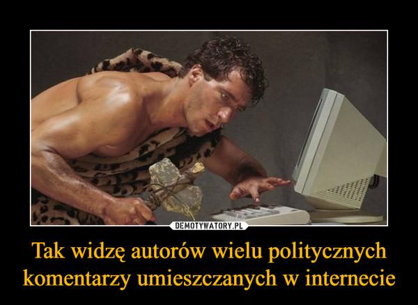 Tak widzę autorów wielu politycznych komentarzy umieszczanych w internecie –
