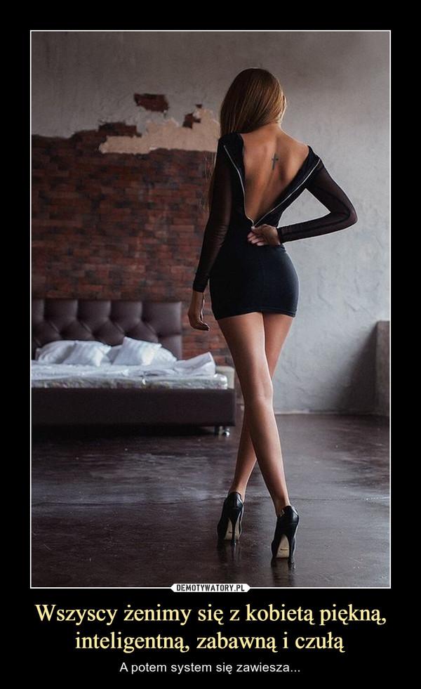 Wszyscy żenimy się z kobietą piękną, inteligentną, zabawną i czułą – A potem system się zawiesza...