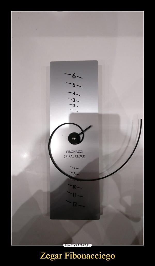 Zegar Fibonacciego –  FIBONACCI SPIRAL CLOCK