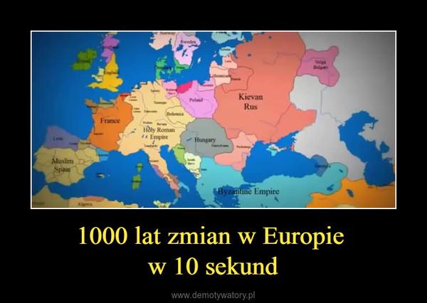 1000 lat zmian w Europie w 10 sekund –