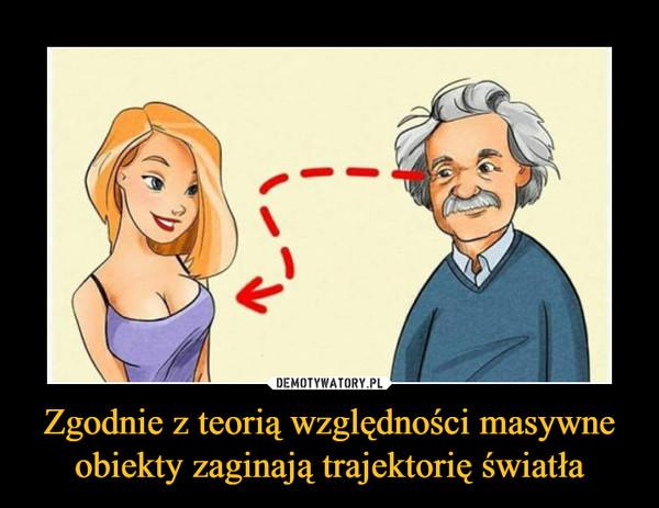 Zgodnie z teorią względności masywne obiekty zaginają trajektorię światła –