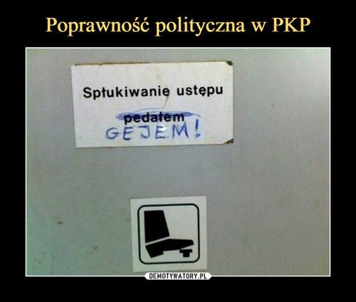 Poprawność polityczna w PKP