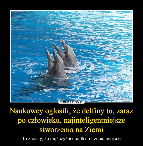 Naukowcy ogłosili, że delfiny to, zaraz po człowieku, najinteligentniejsze stworzenia na Ziemi – To znaczy, że mężczyźni spadli na trzecie miejsce