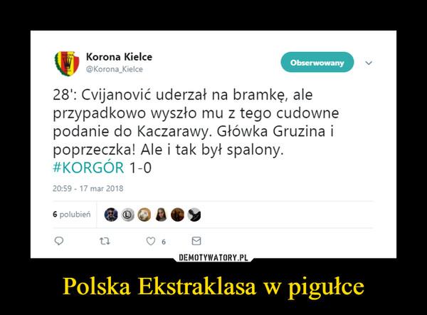 Polska Ekstraklasa w pigułce –
