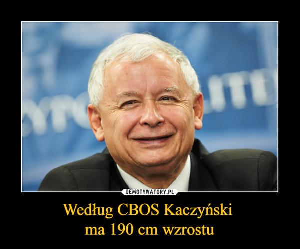 Według CBOS Kaczyński ma 190 cm wzrostu –