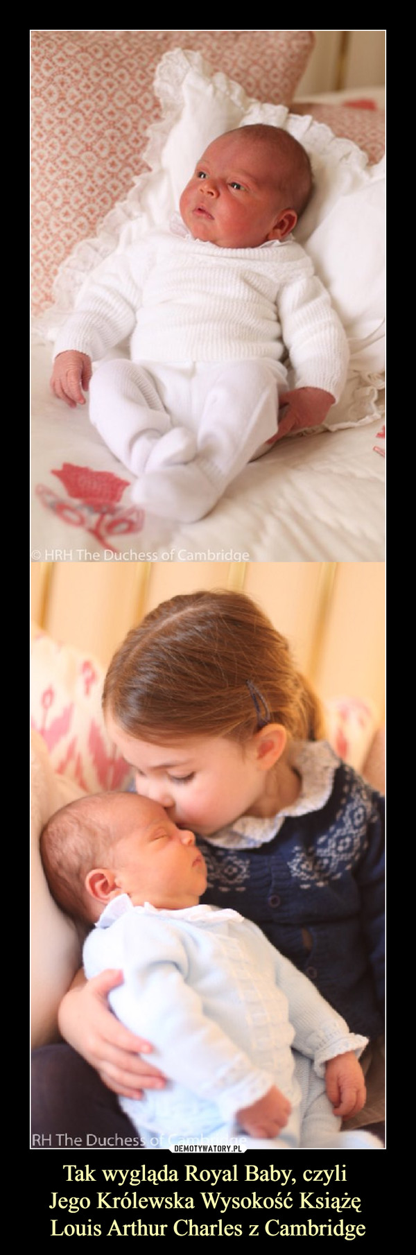 Tak wygląda Royal Baby, czyli Jego Królewska Wysokość Książę Louis Arthur Charles z Cambridge –