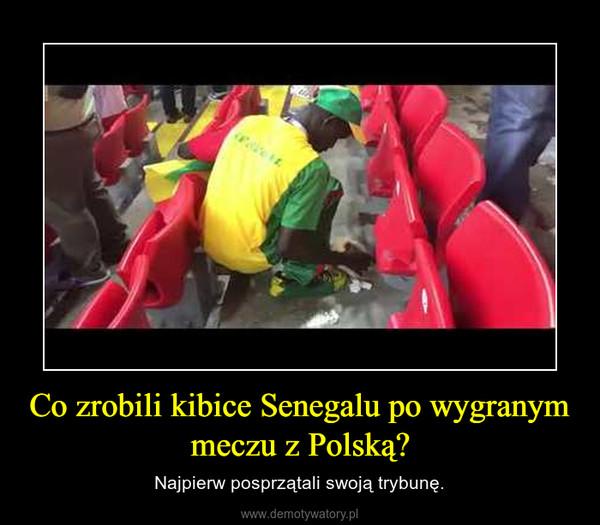 Co zrobili kibice Senegalu po wygranym meczu z Polską? – Najpierw posprzątali swoją trybunę.