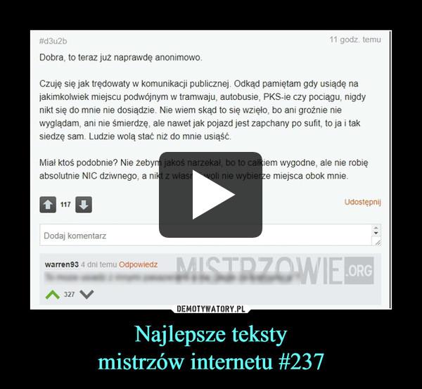 Najlepsze tekstymistrzów internetu #237 –