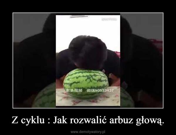 Z cyklu : Jak rozwalić arbuz głową. –