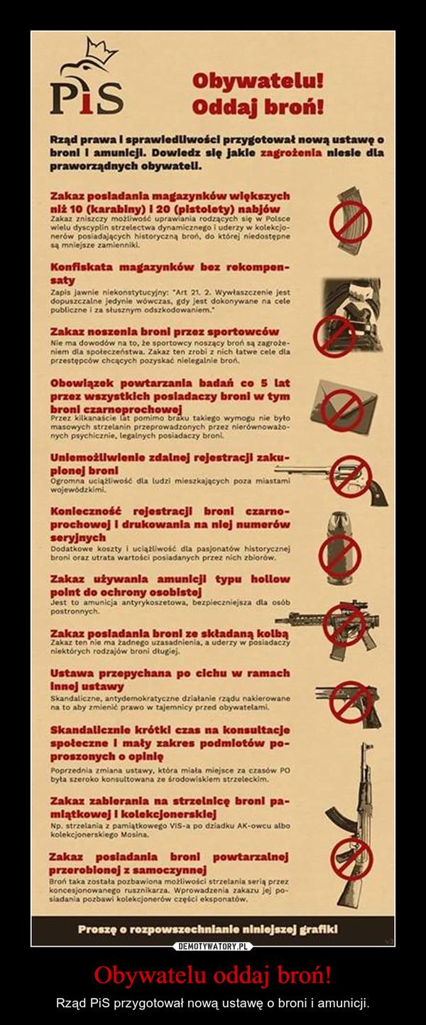 Obywatelu oddaj broń! – Rząd PiS przygotował nową ustawę o broni i amunicji.