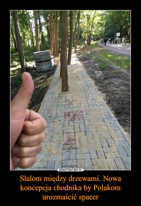 Slalom między drzewami. Nowa koncepcja chodnika by Polakom urozmaicić spacer –