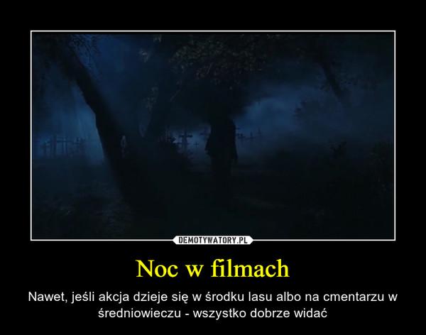 Noc w filmach – Nawet, jeśli akcja dzieje się w środku lasu albo na cmentarzu w średniowieczu - wszystko dobrze widać