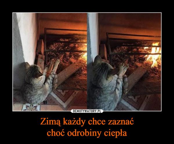 Zimą każdy chce zaznaćchoć odrobiny ciepła –