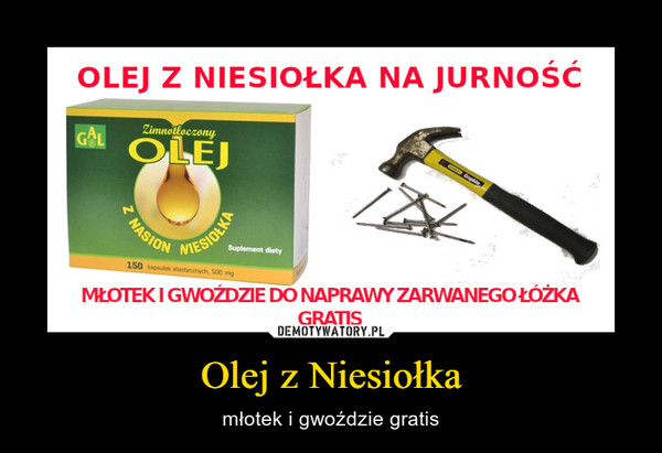 Olej z Niesiołka – młotek i gwoździe gratis