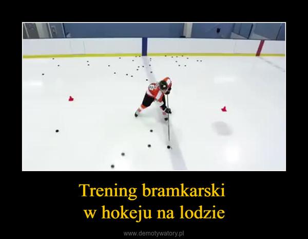 Trening bramkarski w hokeju na lodzie –
