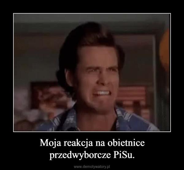 Moja reakcja na obietnice przedwyborcze PiSu. –