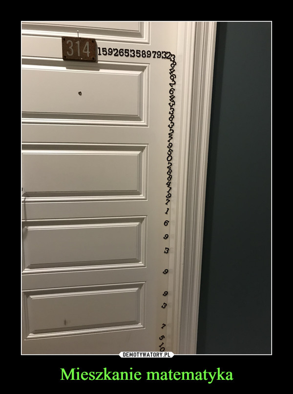 Mieszkanie matematyka –