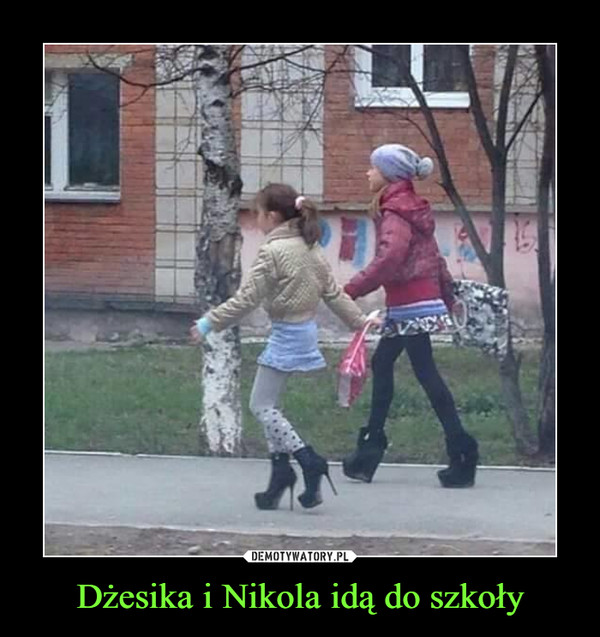 Dżesika i Nikola idą do szkoły –