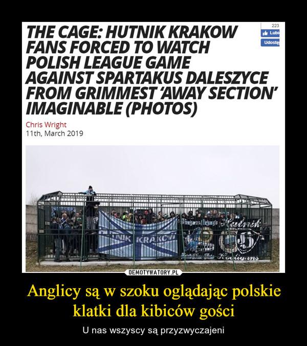 Anglicy są w szoku oglądając polskie klatki dla kibiców gości – U nas wszyscy są przyzwyczajeni cage hutnik kraków spartakus