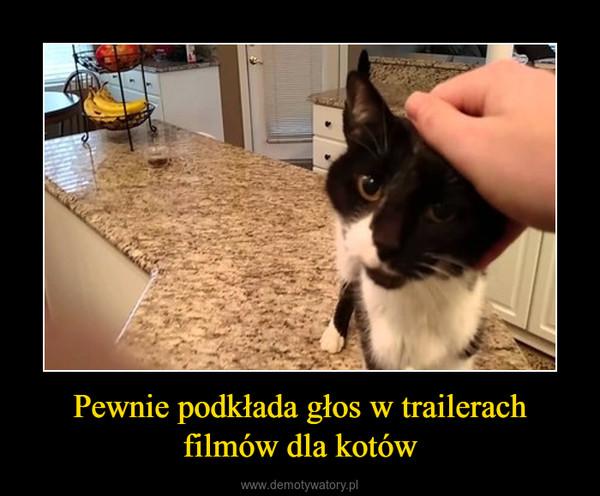 Pewnie podkłada głos w trailerach filmów dla kotów –