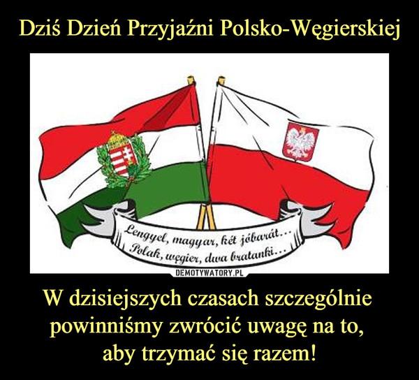 W dzisiejszych czasach szczególnie powinniśmy zwrócić uwagę na to, aby trzymać się razem! –  Polak Węgier dwa bratanki