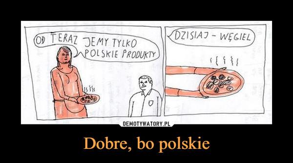 Dobre, bo polskie –  OD TERAZ JEMY TYLKO POLSKIE PRODUKTY DZISIAJ - WĘGIEL