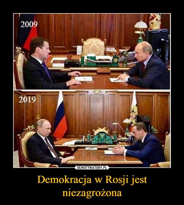Demokracja w Rosji jest niezagrożona –
