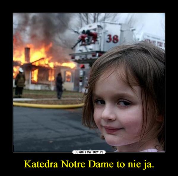 Katedra Notre Dame to nie ja. –