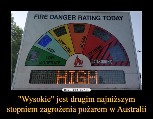 """""""Wysokie"""" jest drugim najniższym stopniem zagrożenia pożarem w Australii –"""