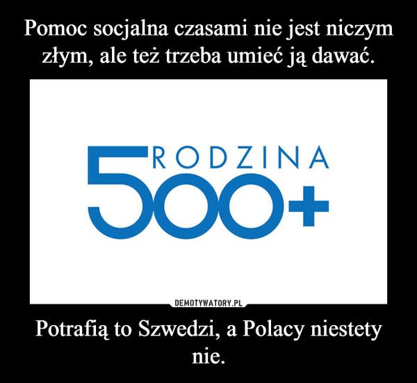 Potrafią to Szwedzi, a Polacy niestety nie. –