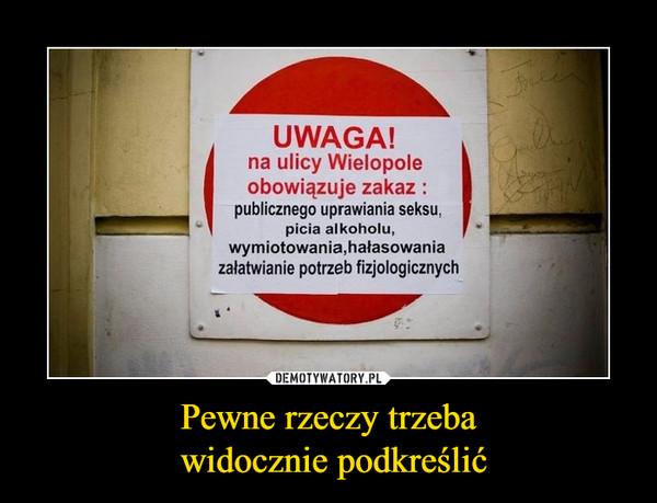 Pewne rzeczy trzeba widocznie podkreślić –  UWAGA!na ulicy Wielopoleobowiązuje zakazpublicznego uprawiania seksu,picia alkoholu,wymiotowania,hałasowaniazałatwianie potrzeb fizjologicznych