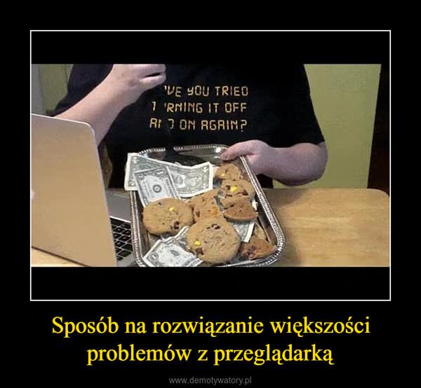 Sposób na rozwiązanie większości problemów z przeglądarką –