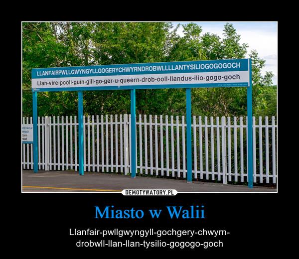 Miasto w Walii – Llanfair-pwllgwyngyll-gochgery-chwyrn-drobwll-llan-llan-tysilio-gogogo-goch