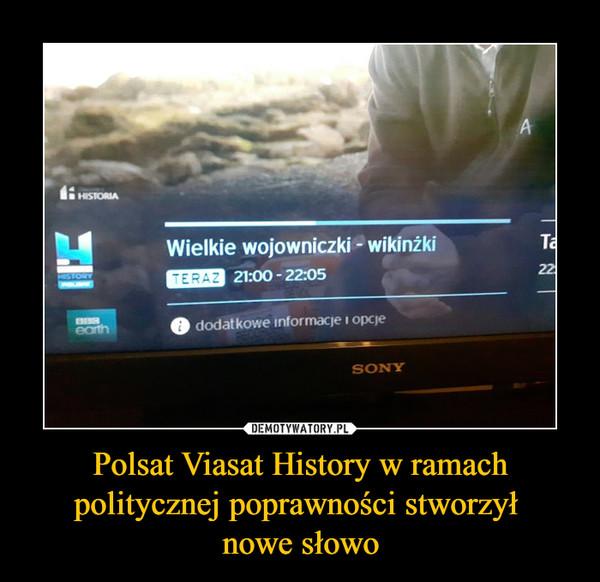 Polsat Viasat History w ramach politycznej poprawności stworzył nowe słowo –  Wielkie wojowniczki - wikinżki