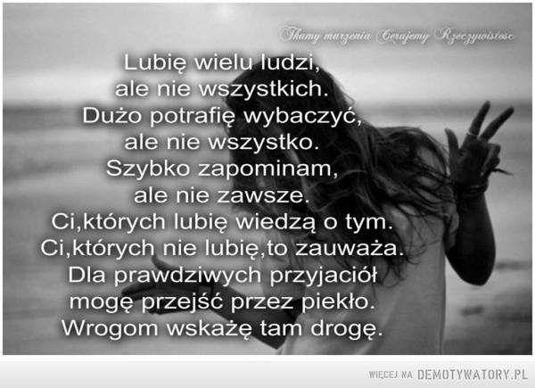 Lubię wielu ludzi –