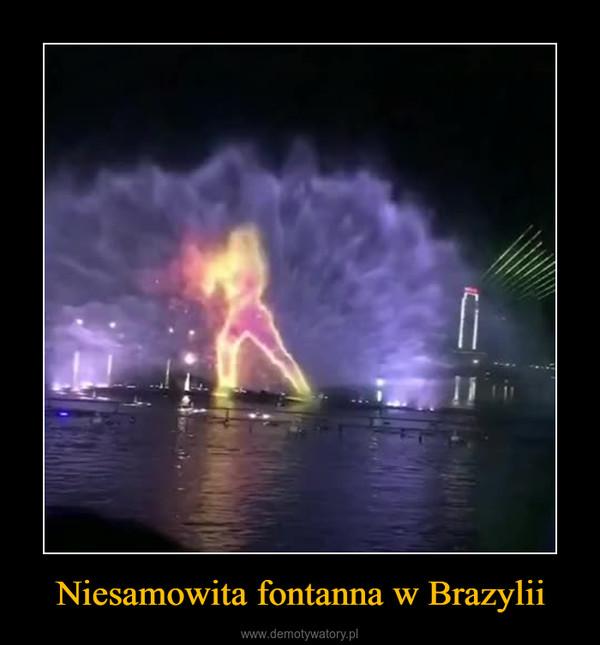 Niesamowita fontanna w Brazylii –