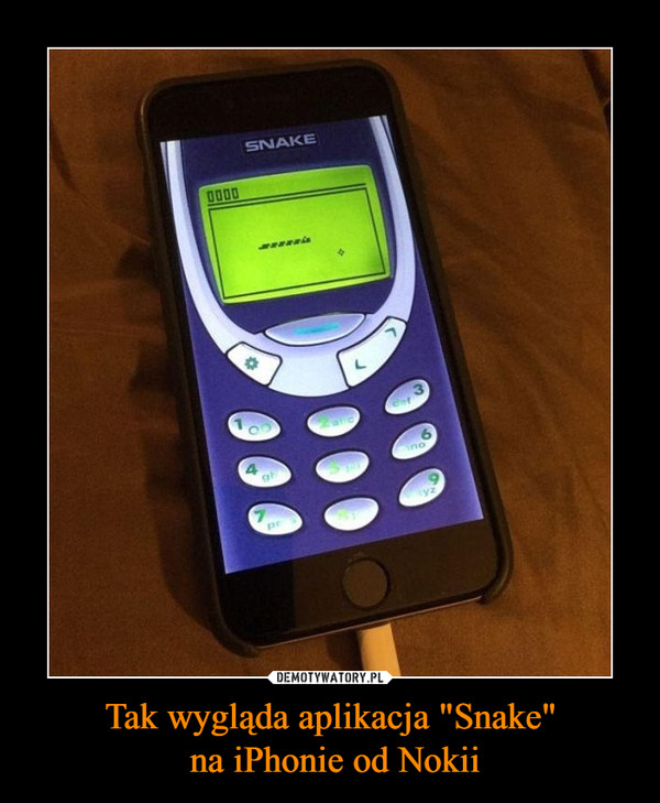 """Tak wygląda aplikacja """"Snake"""" na iPhonie od Nokii –"""