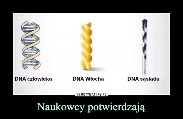 Naukowcy potwierdzają –