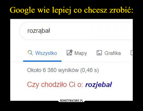 Google wie lepiej co chcesz zrobić: