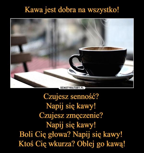 Czujesz senność? Napij się kawy! Czujesz zmęczenie? Napij się kawy! Boli Cię głowa? Napij się kawy! Ktoś Cię wkurza? Oblej go kawą! –