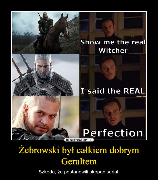 Żebrowski był całkiem dobrym Geraltem – Szkoda, że postanowili skopać serial.