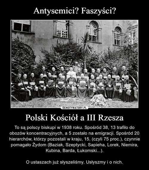 Antysemici? Faszyści? Polski Kościół a III Rzesza
