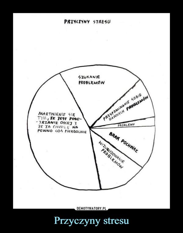 Przyczyny stresu –