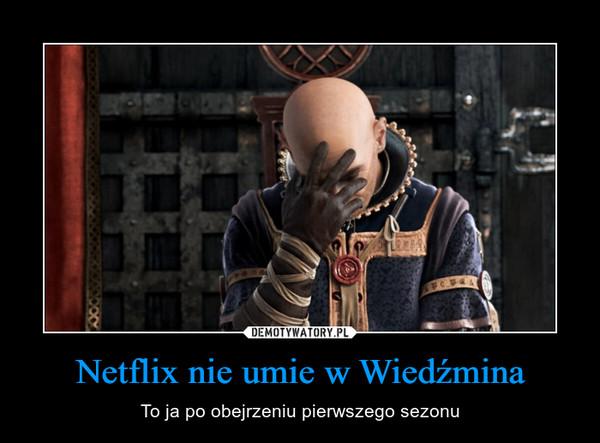 Netflix nie umie w Wiedźmina – To ja po obejrzeniu pierwszego sezonu