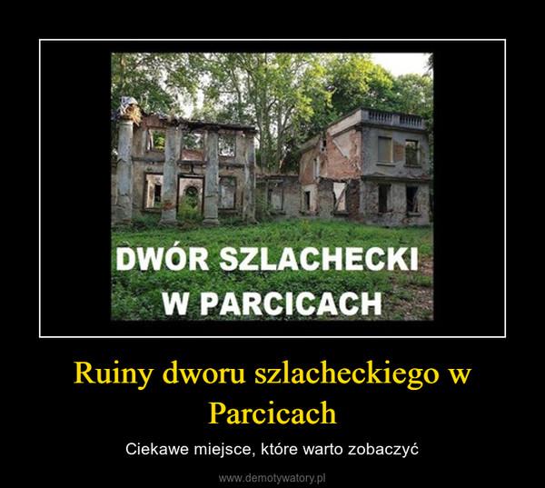 Ruiny dworu szlacheckiego w Parcicach – Ciekawe miejsce, które warto zobaczyć