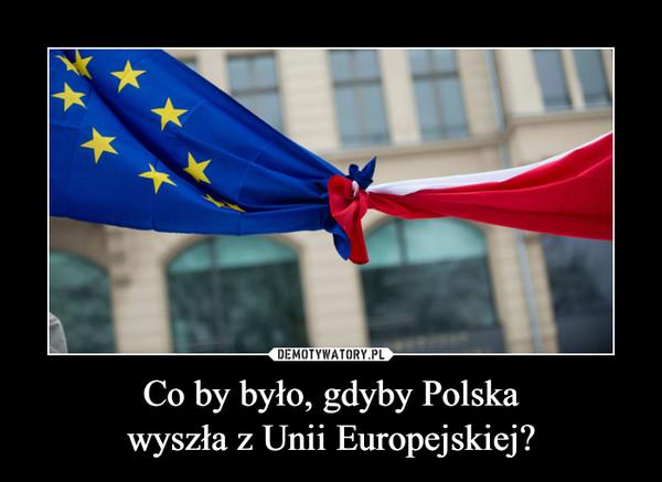 Co by było, gdyby Polskawyszła z Unii Europejskiej? –
