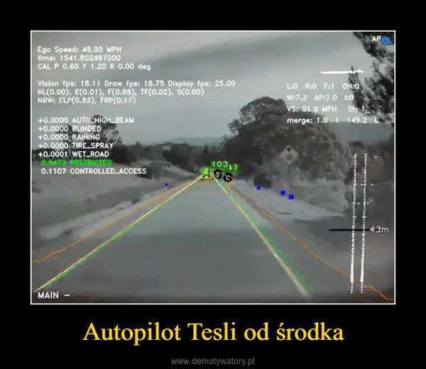 Autopilot Tesli od środka –